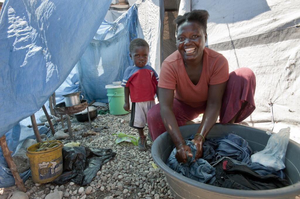 Haiti: Gaston Margron camp