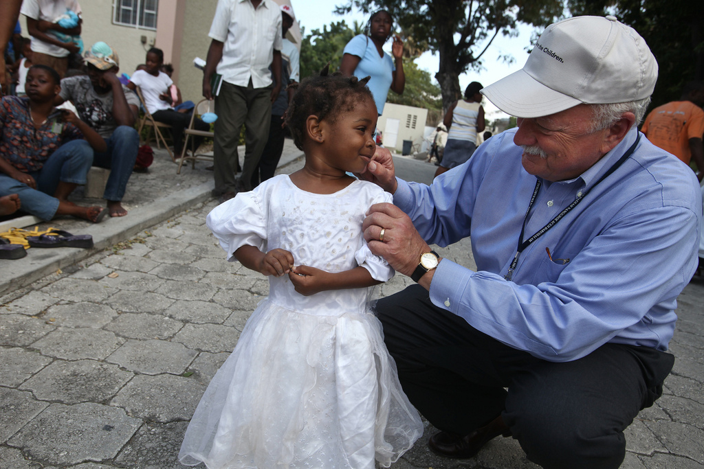 Save the Children CEO, Charles MacCormack, in Haiti