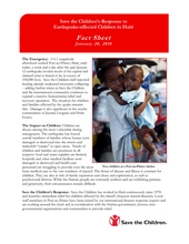 Save the Children Fact Sheet: 1-20-2010 (PDF)