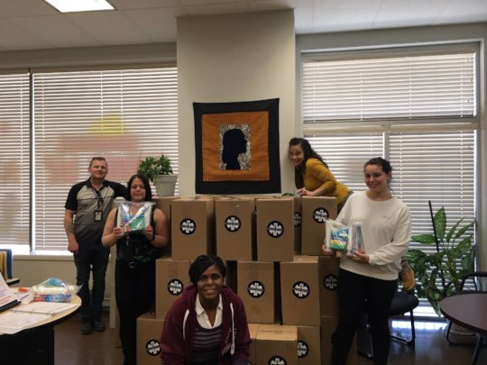 Hygiene Kit delivery to Women's Centre Calgary