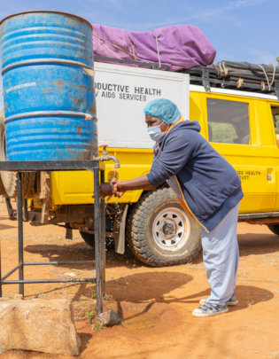 Community handwashing system for C-19 prevention.