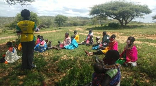 Community sensitization on FP,ecology and COVID 19