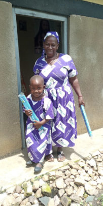 Soap Distribution to grandmothers