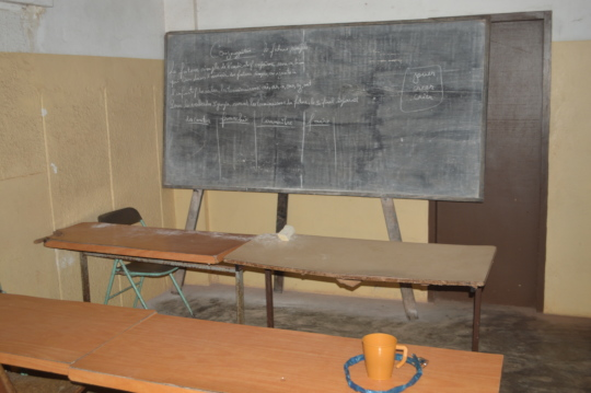 Empty classrooms due to Covid-19 Pandemic
