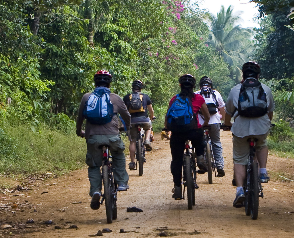 Biking at the Chi Phat Ecotourism Site