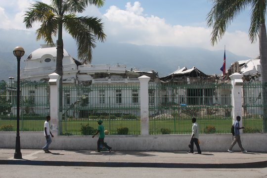 Haiti's damaged presidential palace