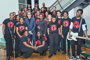 SNAP! Students perform with Huey Lewis