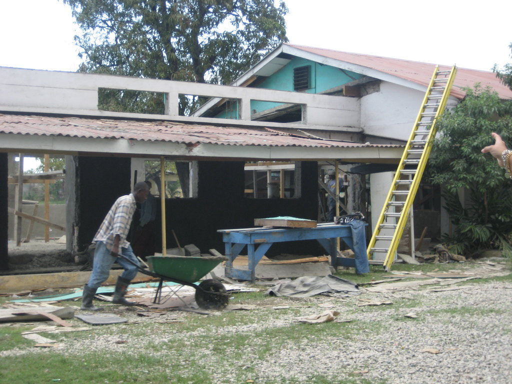 Constructing the new vocational classrooms