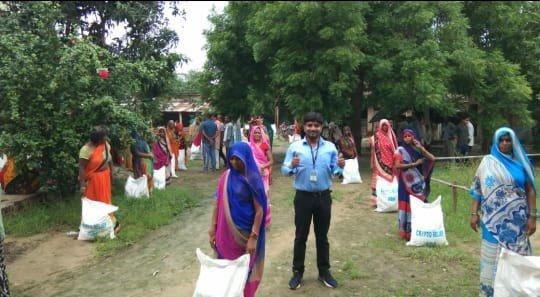 Grain Distribution in Village