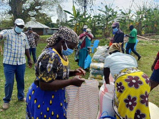 Families Receiving various food stuffs