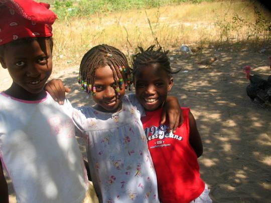 Children in rural Haiti