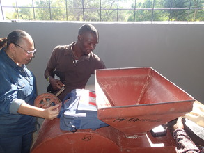 Our Haiti Director's hands on approach!
