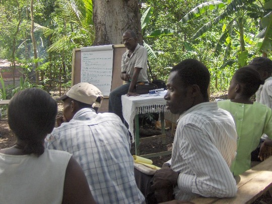Partners during a Lambi Fund workshop