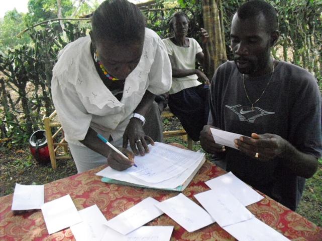 Distributing emergency grants post-quake