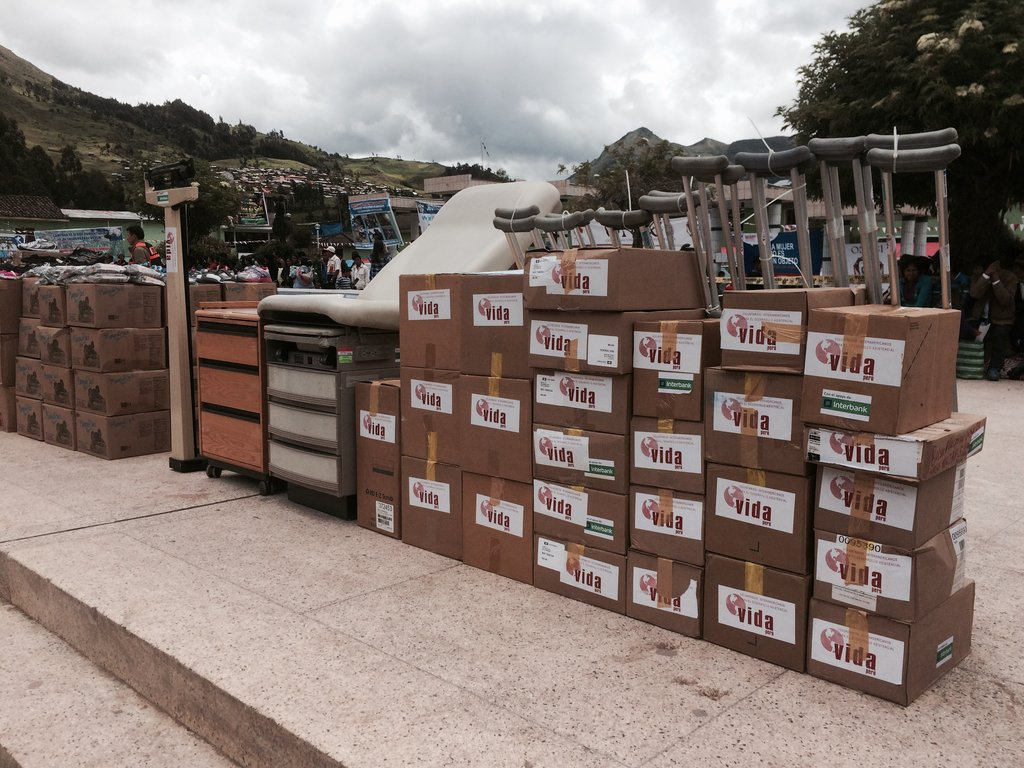 Medical Supplies Airlifted to Tambo Peru