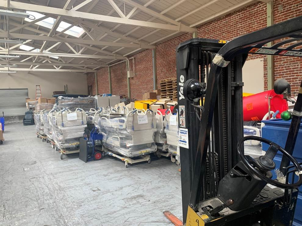 Hospital Beds in VIDA Warehouse