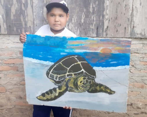 Sea Turtle, a winning artwork in Nicaragua