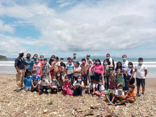 31 junior rangers took a field trip to the beach
