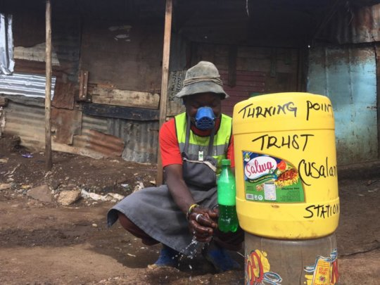 Handwashing stations in the community