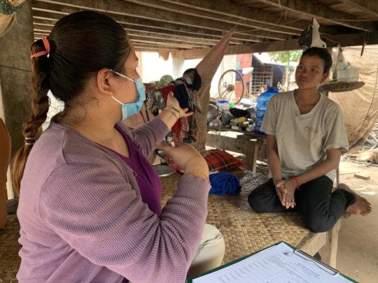 Kunthea conducting a needs assessment.