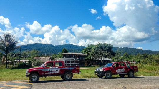 Rescue Trucks Deliver Food Aid To Rural Peru