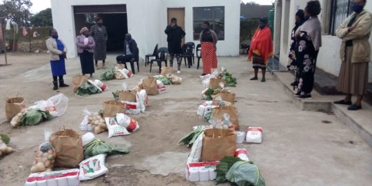 Food parcels to community creches