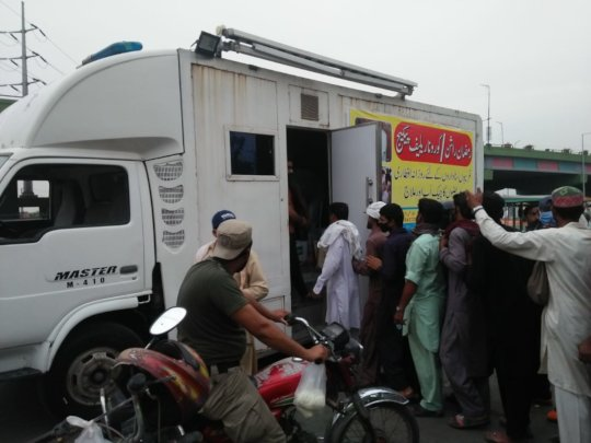 Mobile clinic by Customs Health Care Society