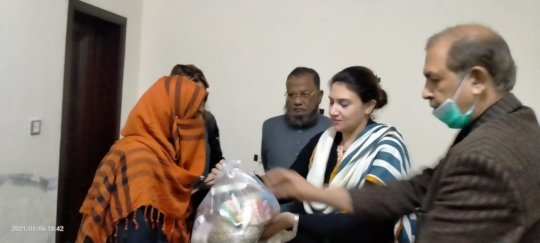 Ration Packet Handed Over to the Needy