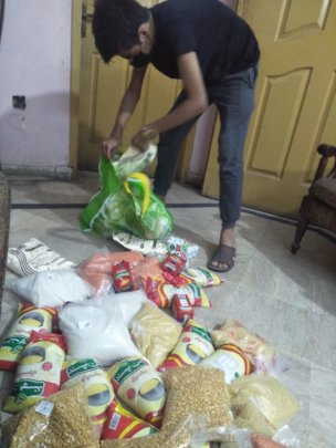 Ration Packages being Prepared