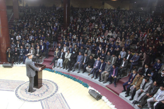 Former AFG Ed Minister Addresses Marefat Pre-COVID