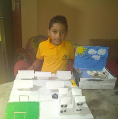 Valentin's Model Town for English Class