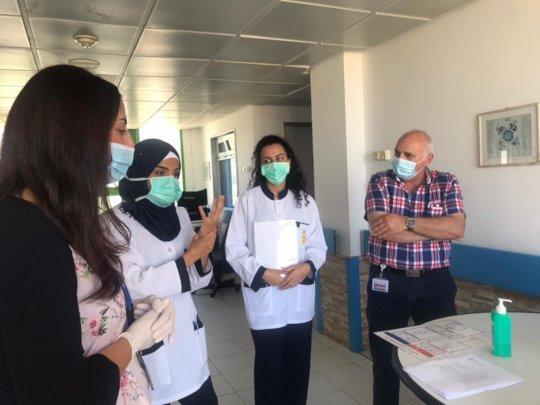 Training patients on handwashing