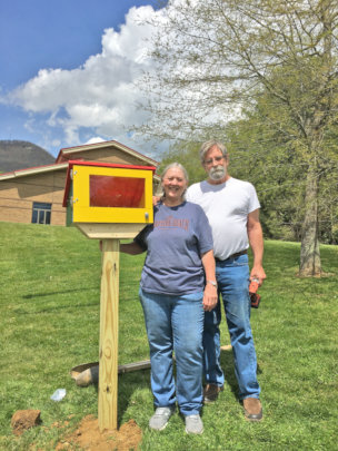 Debbie and Mike with their Seed Library
