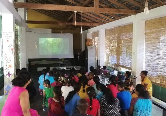 Movie day at Cotagala School