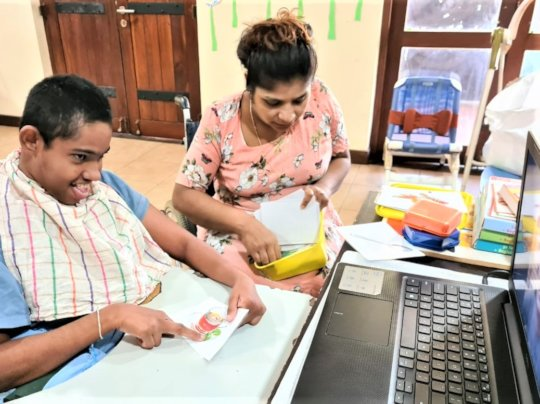 Online speech therapy at the Infants Home