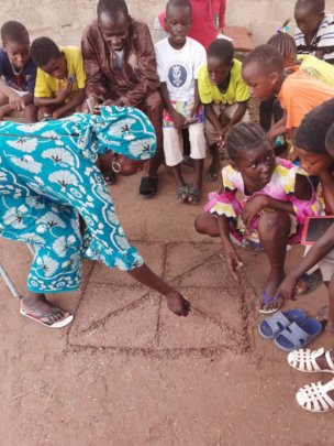 Children also learn to play traditional games