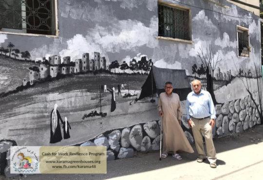 Meaningful historical wallpaintings in Deheishe