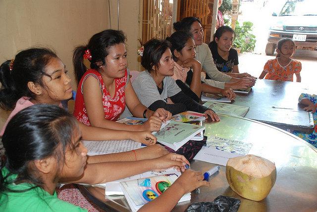 NFE class in Svay Pak, Cambodia
