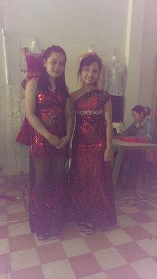 Chantha (Left) Wears New Dress!