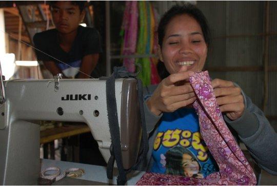 Vannah puts her sewing skills to good use