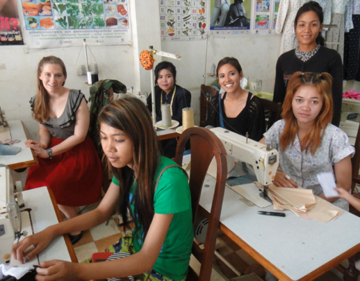 With Lotus Outreach Sewing Class