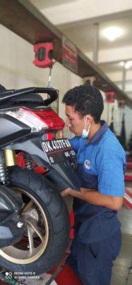 One of our children doing Mechanic Apprenticeship