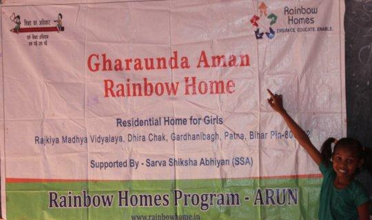 children are Rainbow homes Patna