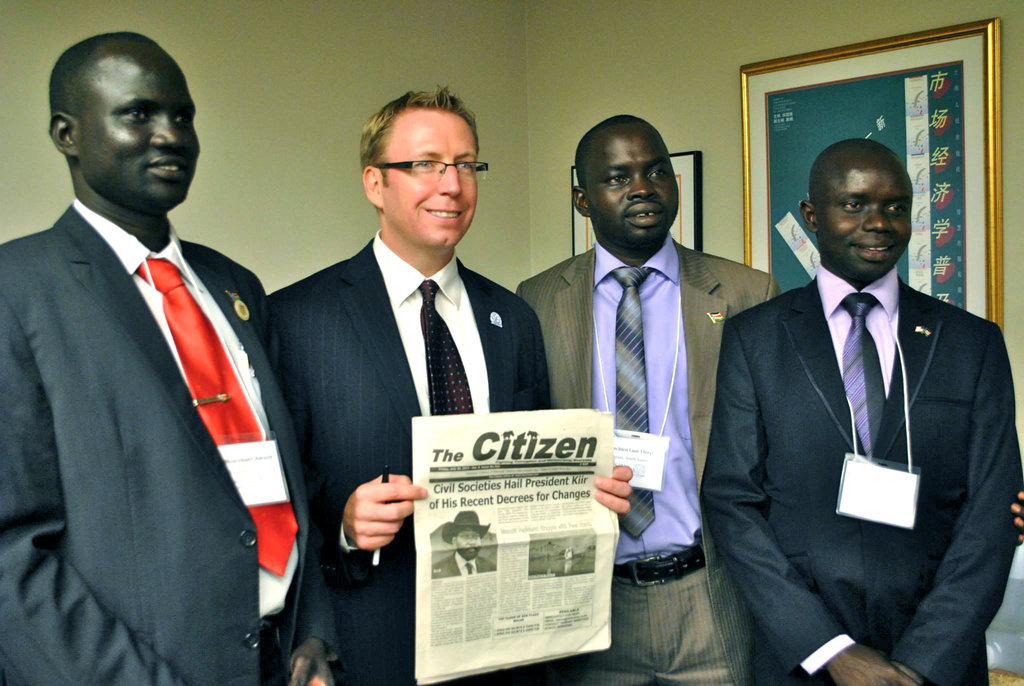 First Fellows from South Sudan - September 2013