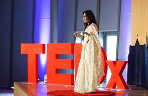Vithika (India, Class 1) speaks at TedX.