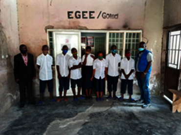 Pupils of the juvenile prison assisted