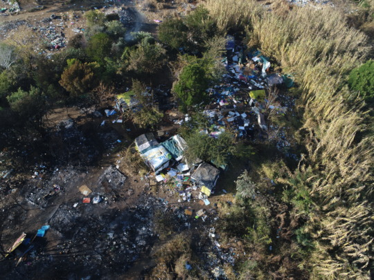 Drone footage of Malibongwe before cleanup