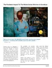 Report from Surabaya, Indonesia on COVID impacts (PDF)