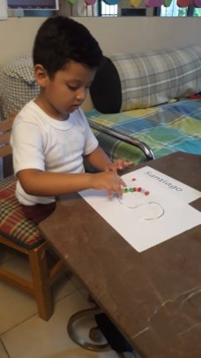 Santi doing his homework :)