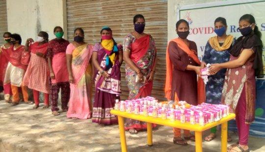 Sanitizors and Masks Distribution